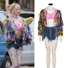 Birds Of Prey Harley Quinn Cosplay Costume Cheerleader Girls Costumes Halloween For Women Party Props