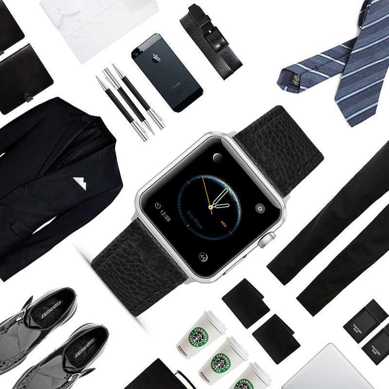 Eastar 3 Colori di Vendita Calda Cinturino In Pelle per Apple Watch Band Serie 5/3/2/1 di Sport braccialetto 42 millimetri 38 millimetri Cinghia Per iwatch 4 Band