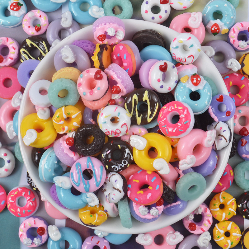 Donut Filler Slime Charms Soft Clay Sprinkles Lizun Putty DIY Polymer Clay Molds Cloud Decor For Slime Set Accessories For Kids
