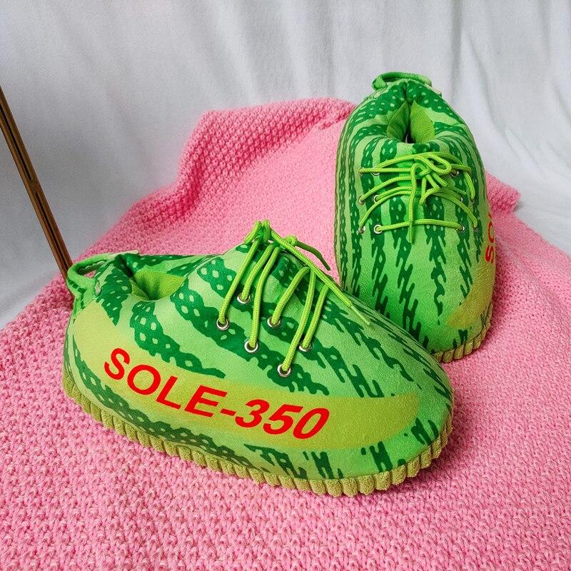 Unisex Big Size 35-43 Snug Sneakers Women House Floor Slippers Women/Men Winter Warm Home Slippers Ladies Slides One Size Shoes