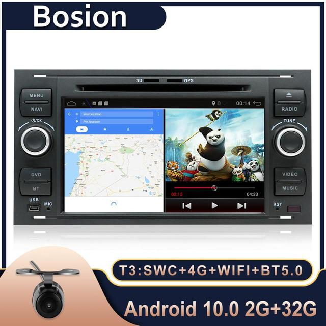 Boison Android 10.0 Car DVD GPS Navigation Player Stereo Radio Audio For Ford 2 Mondeo S C Max Fiesta Galaxy Connect Focus