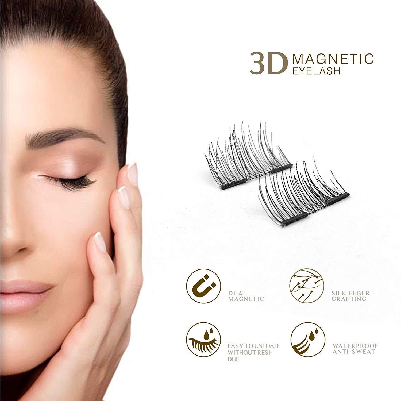MB New 8Pcs Magnet Mink Lashes 100% Magnetic Eyelashes Natural Hair False Eye lashes 3D Fake Lash Fluffy Faux Cils magnetique 4