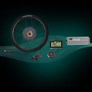 "Image 3 - Elektrikli bisiklet dönüşüm kiti V fren 26 ""bisiklet arka tekerlek 1500W 48VHub Motor PASIONEBIKE"