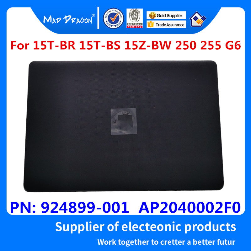 New Original LCD Back Cover For HP 15-BS015DX 15-BS 15T-BR 15Q-BU 15T-BS 15-BW 250 G6 255 G6 TPN-C129 TPN-C130 924899-001 Black
