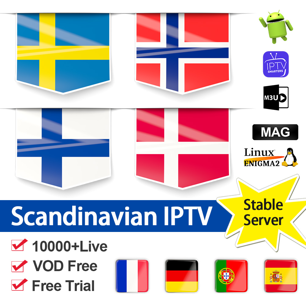 World IPTV Subscription Sweden Nordic IPTV Spain Poland Netherlands 1 Year NETV Code IPTV Albania M3u IP TV Sweden Dutch Finland