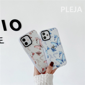 Image 5 - Cute Butterfly Printed Phone Case For iphone 12 mini 11 Pro Max Cartoon Silicone Cover For iphone XS Max SE 2020 XR X X 8 7 plus