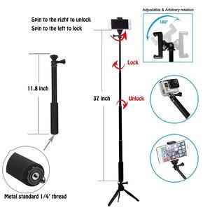 Image 5 - Stativ Bluetooth Fernbedienung Selbstauslöser Clip Halter Selfie Dslr Stativ Stick Mount Für Gopro Sport Kamera Telefon Stehen halter
