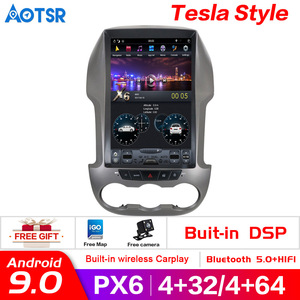 Android 9.0 4+64GBTesla Style Car No DVD Player GPS Navi For Ford Ranger 2011-2016 Multimedia Stereo Autoradio unit radio stereo