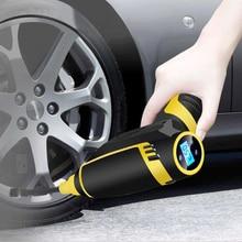 120 Вт беспроводной автомобильный воздушный компрессор Ручной USB Перезаряжаемый насос для шин цифровой надувной насос манометр автомобильные аксессуары