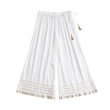 Этнический низ индийское платье пакистанский сальвар шальвар индийская одежда Пакистанская женская одежда хлопок белые брюки