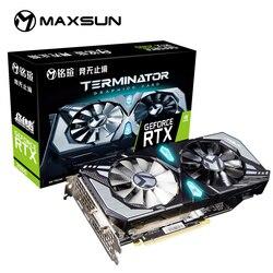 MAXSUN GeForce RTX 2060 Terminator 6GB 192-poco GDDR6 tarjetas gráficas PCI Express 3,0x16 DP HDMI DVI HDCP Ready de la tarjeta de vídeo