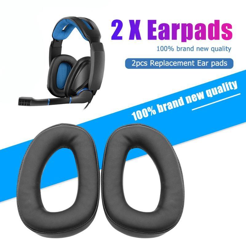 2pcs Over-Ear Foam Earphone Earpads Cover Memory Foam Sponge Replacement  For Sennheiser GSP 300 301 302 303 350 Headphones