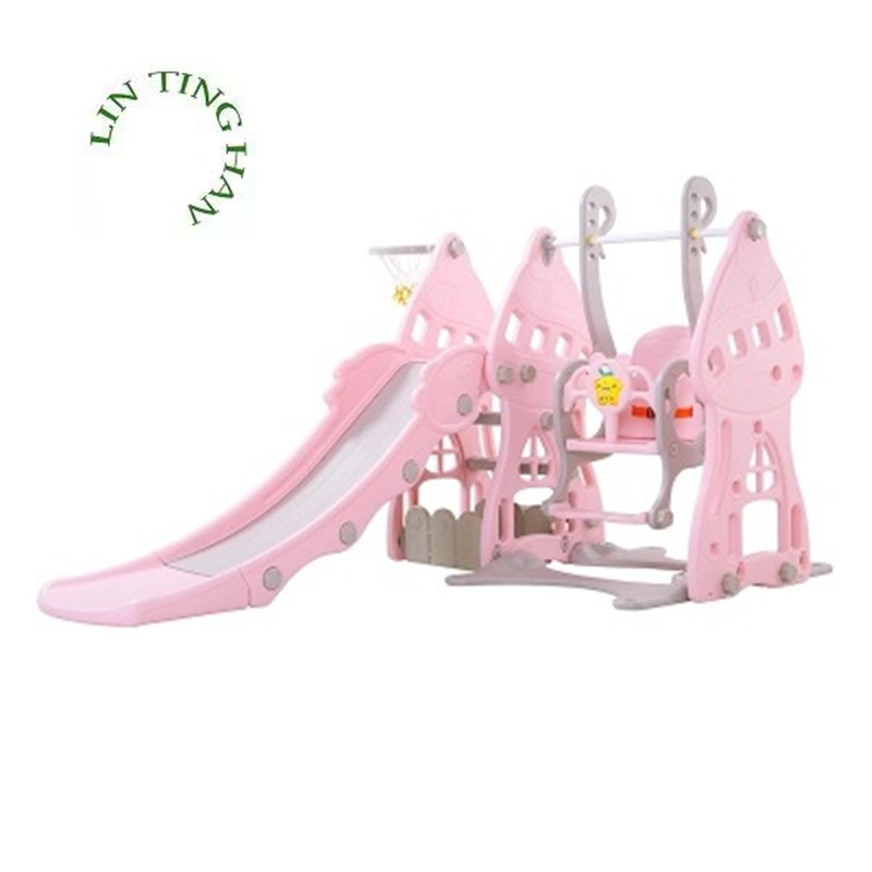 Children Indoor Baby Family Multi-function Slide Baby Swing Combination Plastic Toys For Kindergarten
