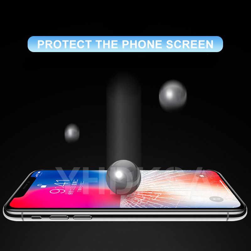 واقي للشاشة 100 d منحني من الزجاج المقسى على آيفون 6 6s 7 8 Plus واقي للشاشة الزجاجية لهاتف آيفون X XR XS 11 Pro Max