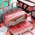 INS Горячая Многофункциональный Карандаш сумка водонепроницаемый Оксфорд Пенал съемная ручка сумка для школы Подставка для косметики сумка