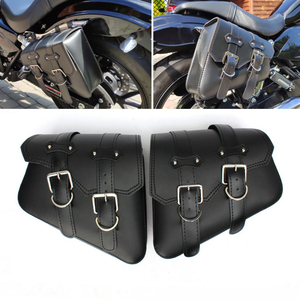 Waterproof Motorcycle bag For Sportster XL 883 1200 Motorcycle Saddle Bags Pu Leather Motorbike Side Tool Bag out door Luggage