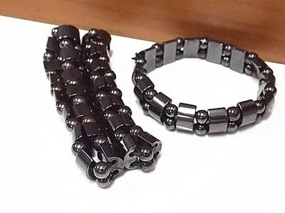 JWMUMA Weight Loss Round Black Stone Magnetic Bracelet Therapy women's Bracelets Men Stretch Bracelet Gifts for Men 4