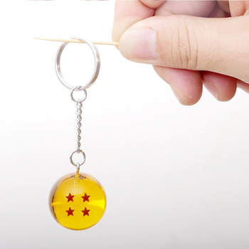 Cartoon anime Z Keychain Child cosplay Dragonball Z 7 Stars Crystal Ball Keyrings PVC Pendant key holder image
