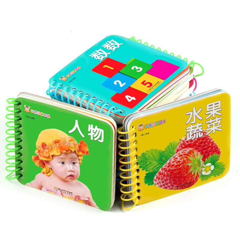 10pcs/set Children Early Education Learning Cards Fruit  Animal Book With Chinese Pinyin English Pictures Gift Cards For Kids