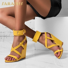 Brand New Wedges High Heels Dropship Large Size 47 Summer Gladiator Top Quality