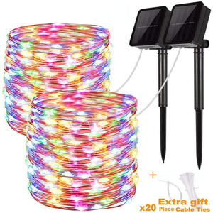 Led-String-Lights Gate Wedding-Decoration Patio Yard Party Garden Solar Outdoor for Home