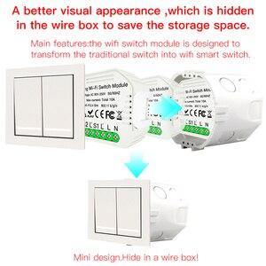 Image 5 - Wifiスマートライトスイッチdiyブレーカモジュールスマートライフ/チュウヤappリモコン、での作業alexaエコーgoogleホーム2ギャング2ウェイ。