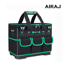 AIRAJ Tool Bag Portable Electrician Bag Multifunction Repair Installation Canvas Large Thicken Tool Bag Waterproof Work Pocket