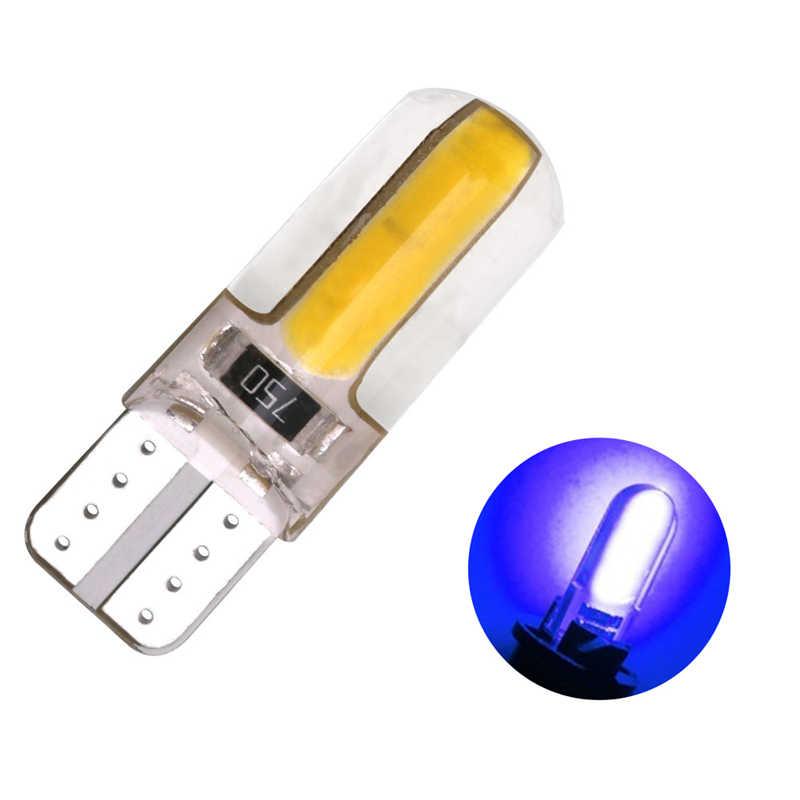 1 Uds T10 Super brillante Gel de sílice COB bombillas LED carcasa de silicona Auto cuña luces de estacionamiento luces laterales luces de señal luces de coche
