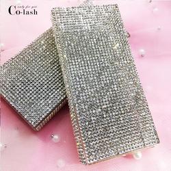 Colash بالجملة الماس كاذبة صندوق تعبئة الرموش وهمية ثلاثية الأبعاد رموش بالمنك صناديق فو cils المغناطيسي جلدة فارغة
