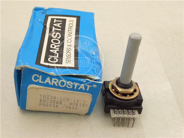 2 pièces d'origine pour codeur CLAROSTAT 70228-LCE-16-1 potentiomètre à pied 5 broches pas à pas 16 axes longueur 35MM