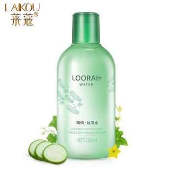 LAIKOU Loofah Face Tonic Moisturizing  Hydration Anti-Aging Oil Control Shrink Pores  Makeup Water Face Toner Skin Care 260ML недорого