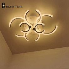 Dimmable Remote Control Led Ceiling Lights Black&White Modern Led Ceiling Lamp For Living room Bedroom Dining room Acrylic Lamps