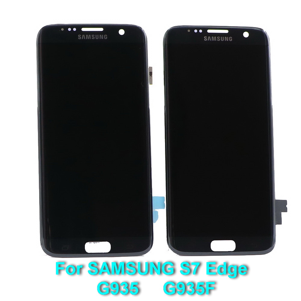ORIGINAL 5.5'' Super AMOLED LCD with Frame For SAMSUNG Galaxy s7 edge G935 G935F Touch Screen Digitizer Display burn shadow image