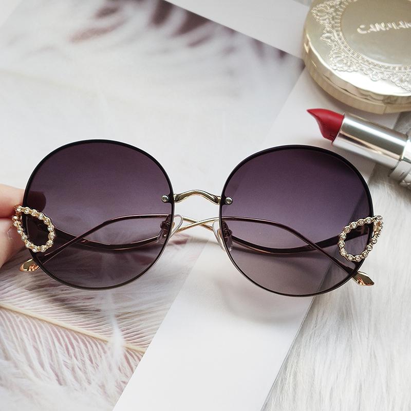 2020 Round Rhinestone Sunglasses Women Vintage Diamond Gorgeous Brand Sun Glasses For Female Top Quality Oculos Uv400 Men Shades Women S Sunglasses Aliexpress
