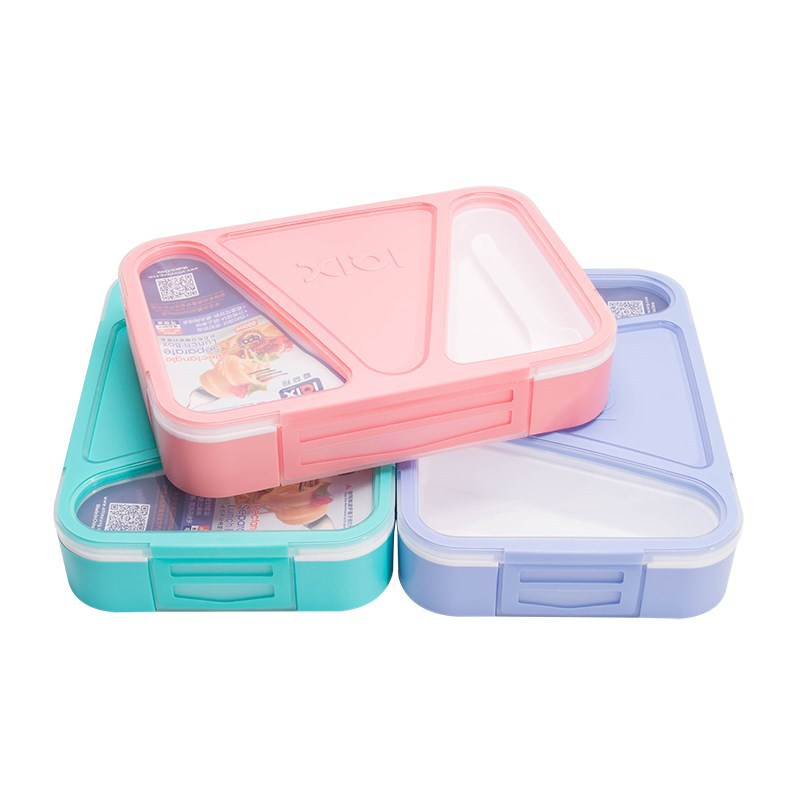 3 Partition Portable Lunch Box Microwave Oven Bento Box Healthy Plastic Food Storage Container Lunchbox BPA Free