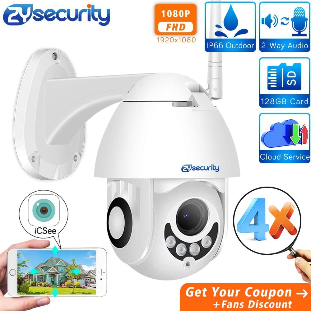 1080p 4X Auto Zoom WiFi AI PTZ Camera Outdoor Wireless Speed Dome Camera Automatic Tracking CCTV Security Surveillance IP Camera