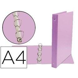 4 кольцевая папка 25 мм Смешанная свинцовая бумага A4 картон облицованный ПВХ фиолетовый