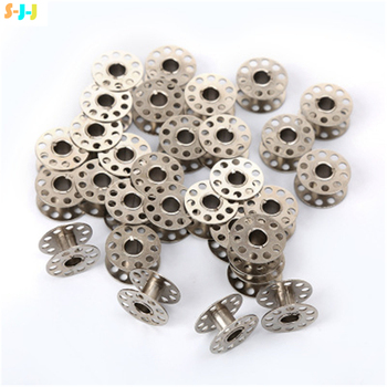 10/25PCS Metal Bobbins Spool Sewing Craft Tool Stainless Steel Sewing Machine Bobbins Spool for Brother Janome Singer Wholesale image