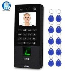 Biometrische Facial Toegangscontrole Toetsenbord Systeem RFID Vingerafdruk Tijdregistratie Machine Ondersteuning Gezicht Wachtwoord TCP/IP Netwerk USB