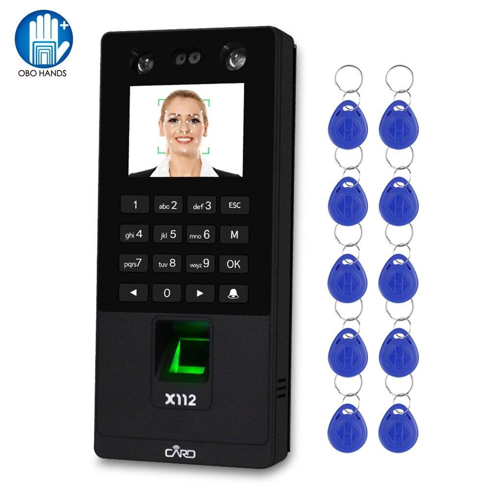 Sistema de teclado de Control de acceso Facial biométrico RFID máquina de asistencia de huella digital compatible con contraseña Facial tcp/red IP USB