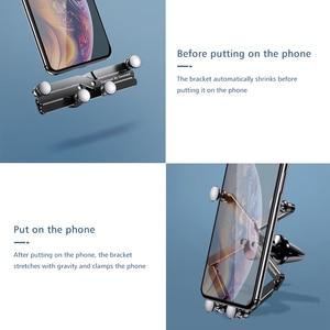 Image 3 - Yerçekimi braketi deforme araba telefon tutucu evrensel araba yerçekimi tutucu cep telefon standı iPhone Xr Xs Max Xiaomi Huawei