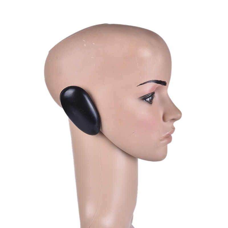 2 pçs protetor de tintura cabelo barbeiro profissional capa de ouvido plástico preto escudo salão cabeleireiro ferramentas estilo acessórios