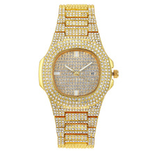 Ice-out Bling Diamond Luxury Watch Men Golden Hip Hop Iced Out Watch