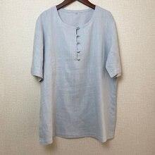 Ushine koszulka w stylu chińskim casualowe уличная bawełna lniana