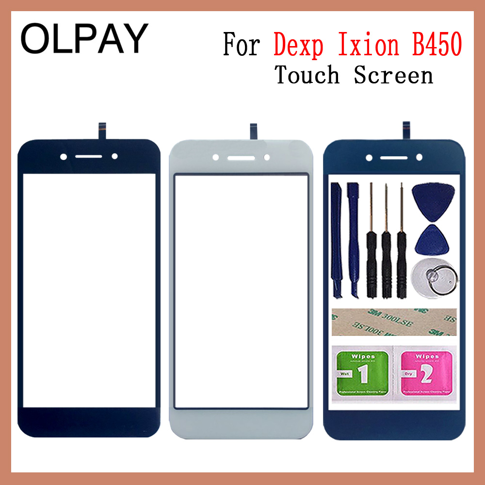 OLPYA 5.0'' Mobile Phone Touchscreen For Dexp Ixion B450 Touch Screen Glass Digitizer Panel Lens Sensor Glass Free Adhesive