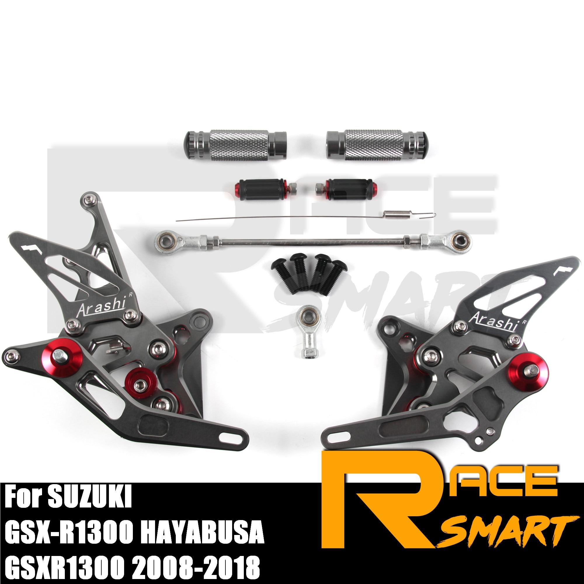 For SUZUKI GSX1300R HAYABUSA 99-12 11 10 09 08 CNC Foot pegs Rearsets Rear set