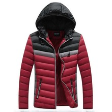 Mens Cotton Clothes Down To Repair Their Coats Parkas Winter Hooded Coat Suit
