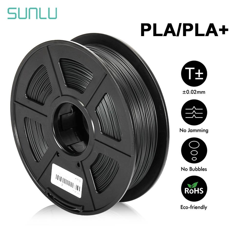 Sunlu pla mais filamento 1.75mm 1kg 3d materiais de impressão multi-cores para escolher plástico pla 3d filamento transporte rápido