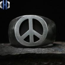 Original Design Handmade Silver Anti-war Logo Ring 925 Personality Wild Men And Women