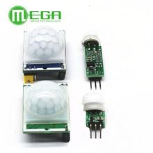 100 pces HC SR501 sr505 sr602 ajustar ir piroelétrico infravermelho pir sensor de movimento detector módulo